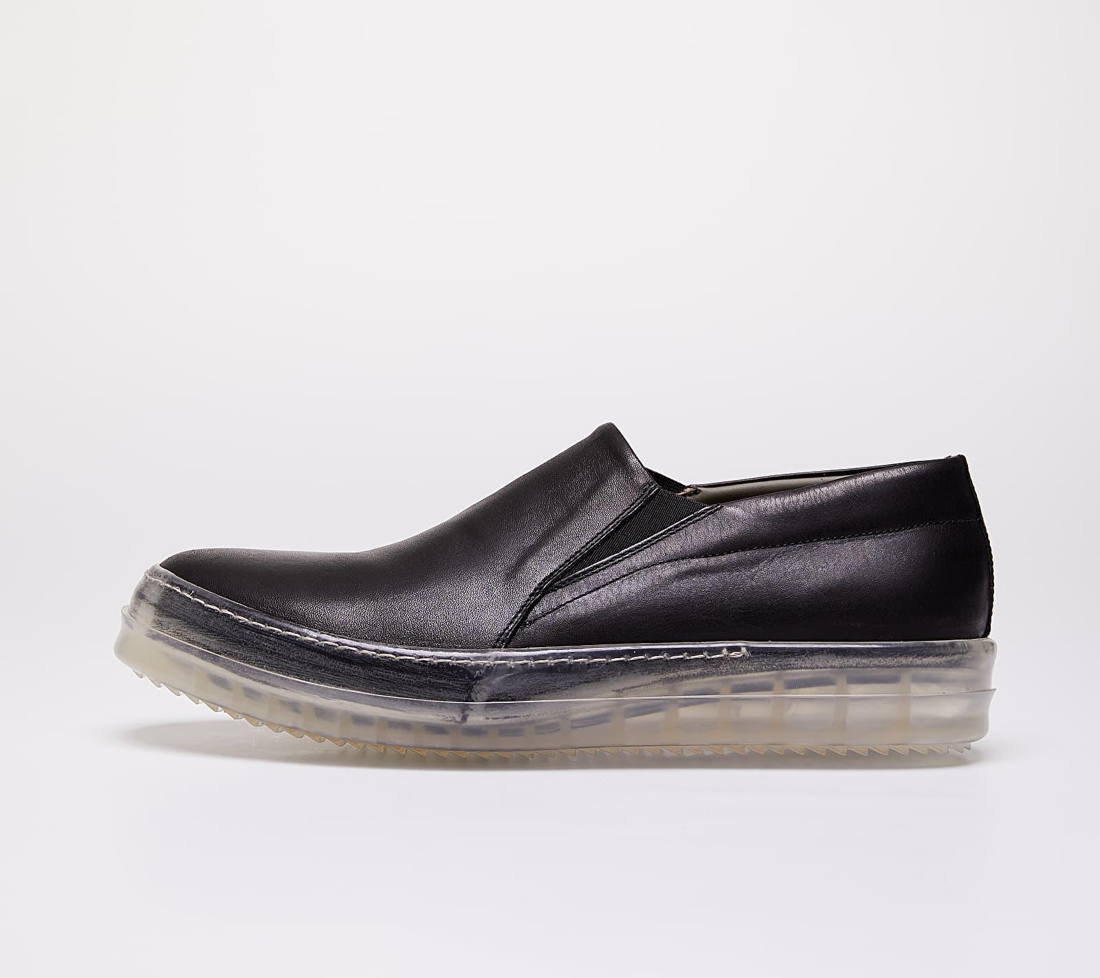 Rick Owens No Cap Boat Sneakers Black EUR 41
