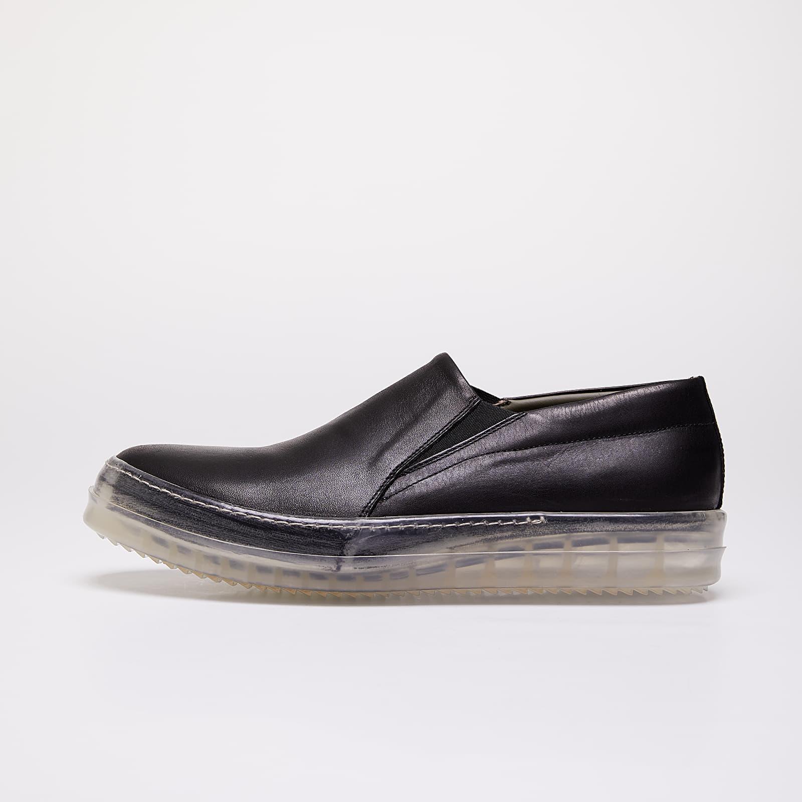 Chaussures et baskets homme Rick Owens No Cap Boat Sneakers Black