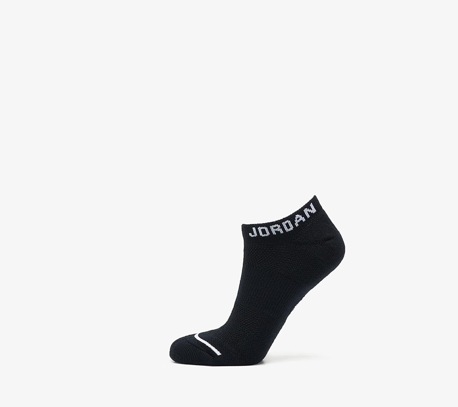 Jordan Everyday Max No Show 3 Pair Socks Black/ Black/ Black