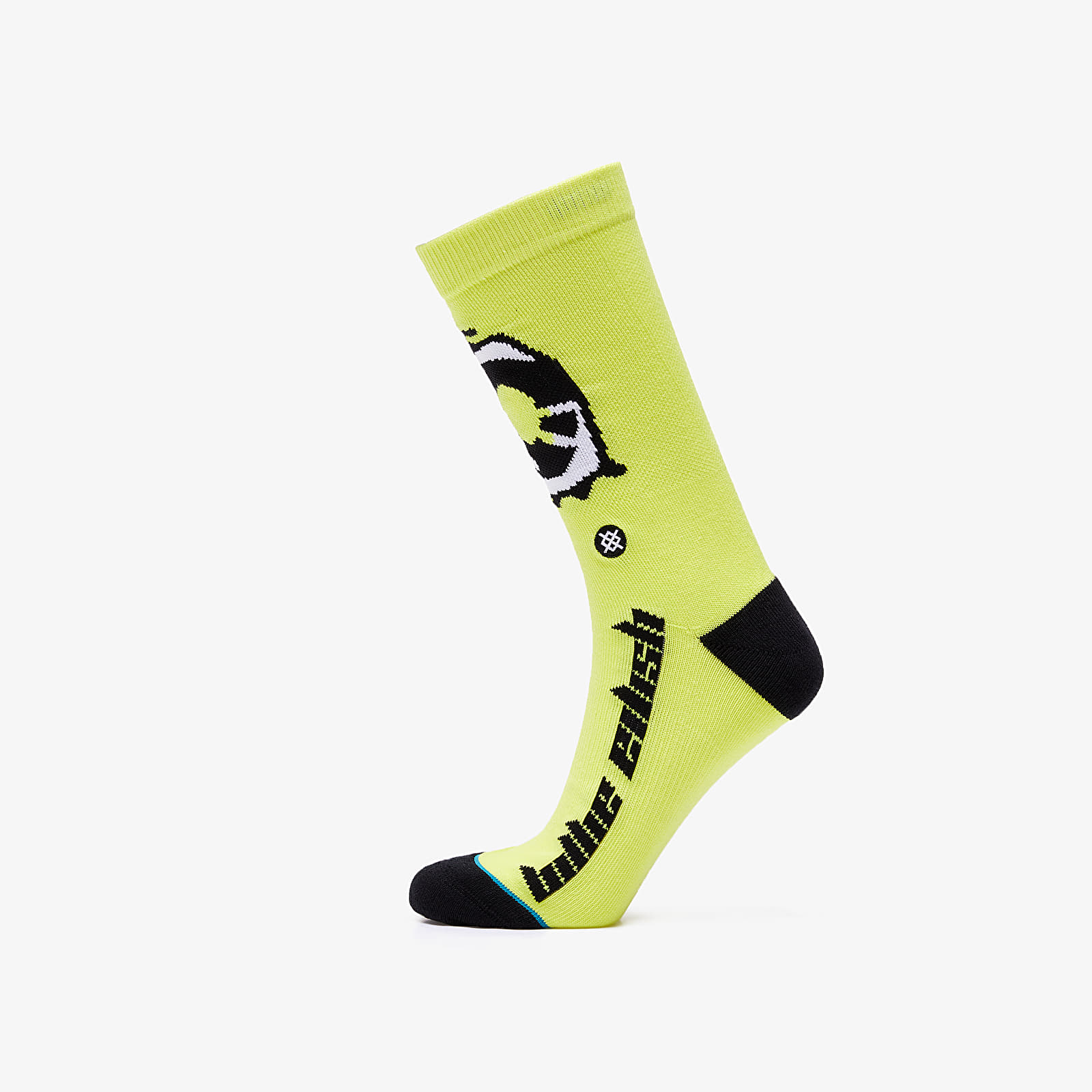 Ponožky Stance x Billie Eilish Anime Eyes Socks Neon Yellow