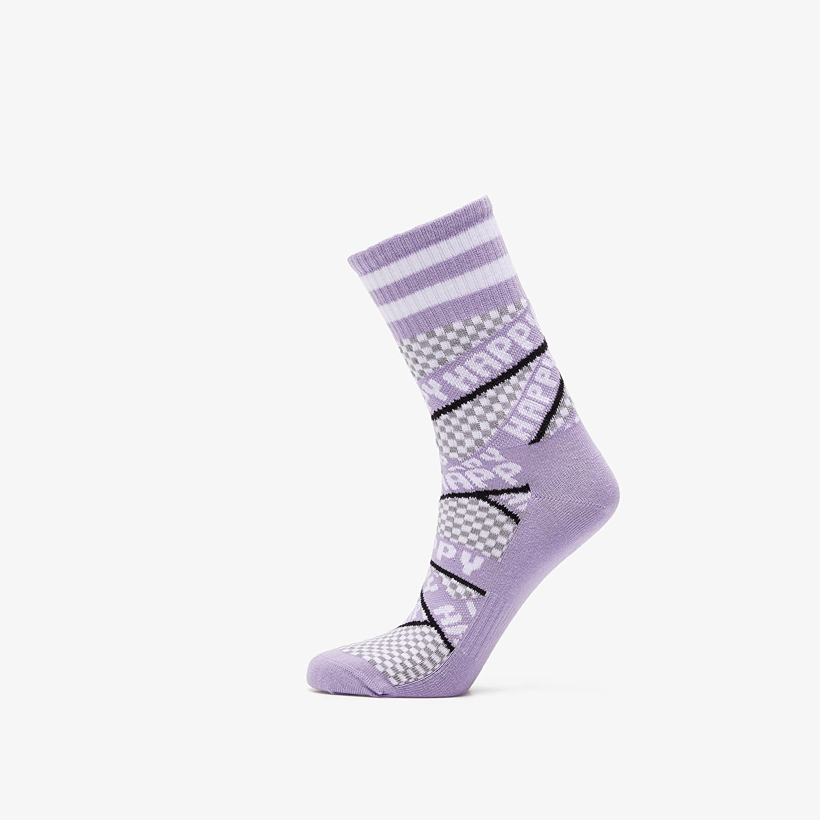Chaussettes Happy Socks Athletic Ribbon Mid High Socks Purple
