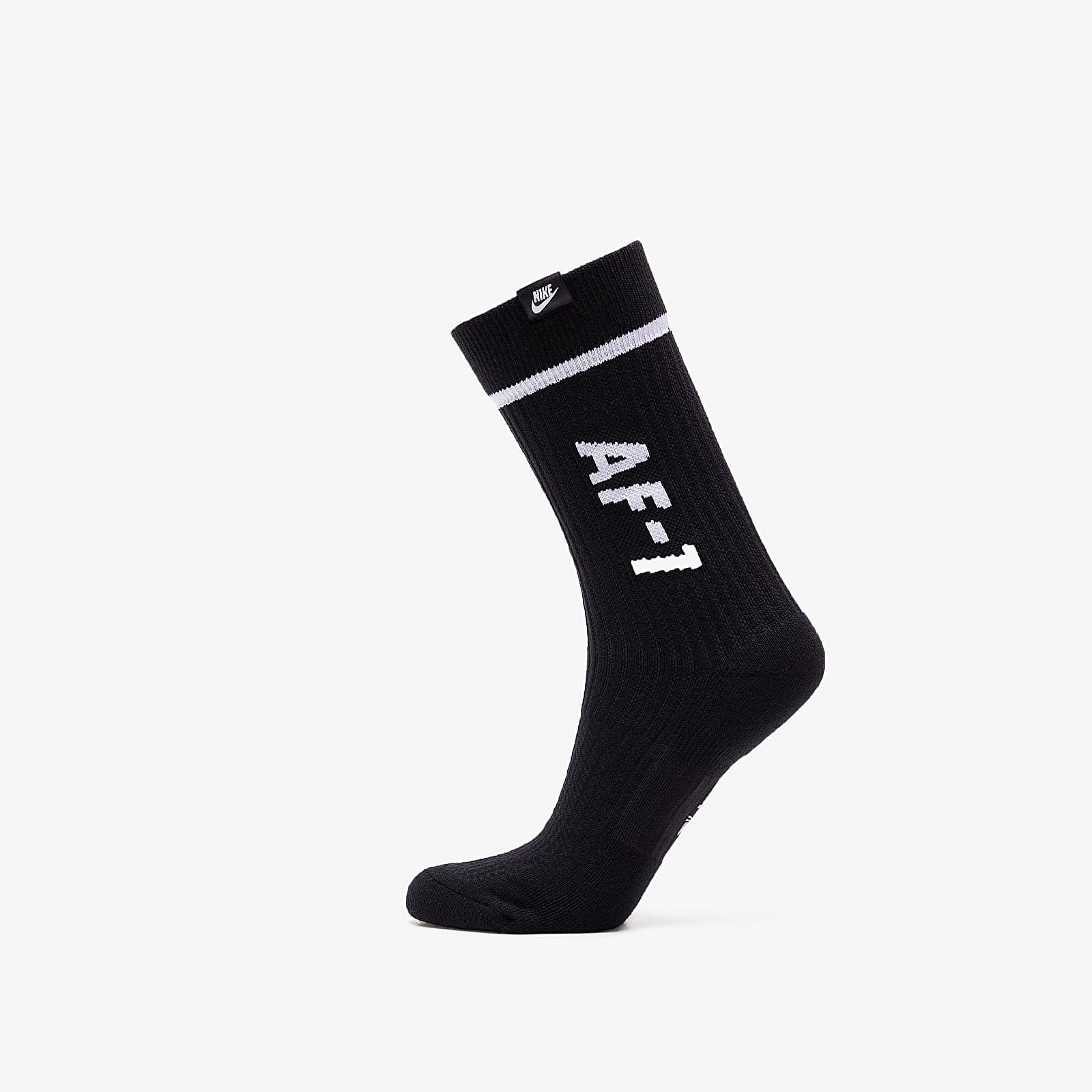 Everyday socks Nike Sportswear 2 Pack AF1 Sneaker Sox Crew Black/ White