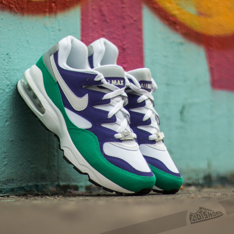 finest selection 96251 dc4ad Nike Air Max 94 Court Purple White- Emerald Green- Wolf Grey