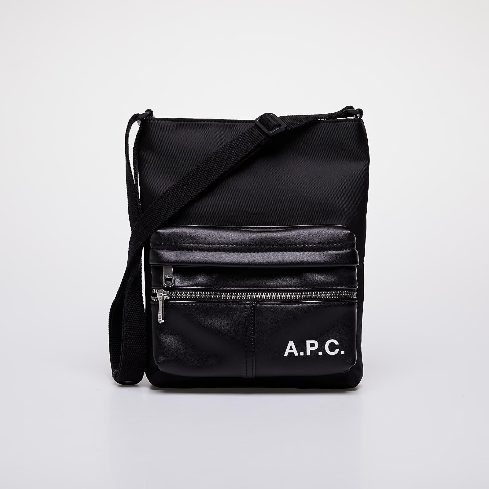 Tašky přes rameno A.P.C. Camden Sacoche Bag Black