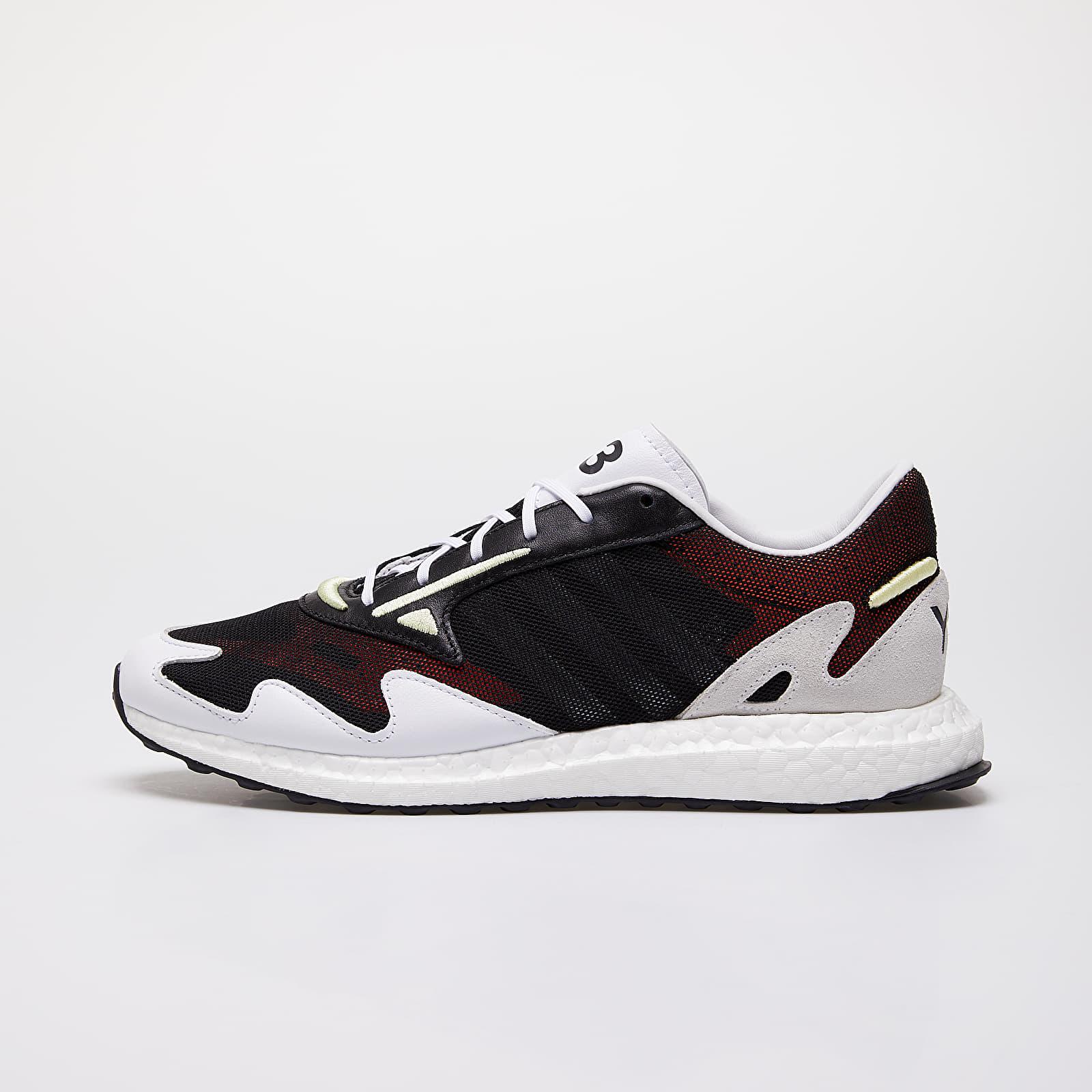 Férfi cipők Y-3 Rhisu Run Black/ Ftw White/ Yellow Tint