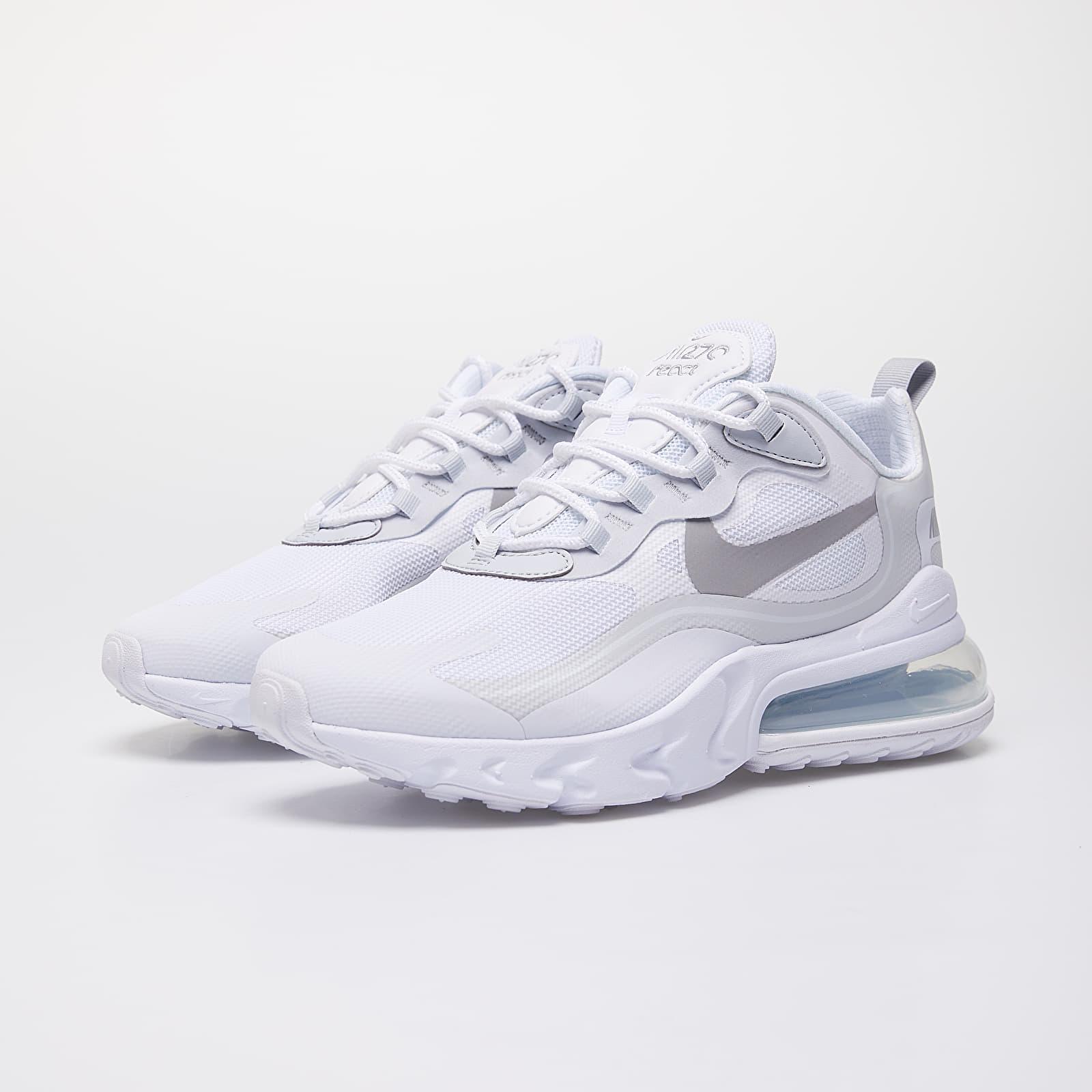 Nike Air Max 270 React White/ Lt Smoke Grey-Pure Platinum   Footshop