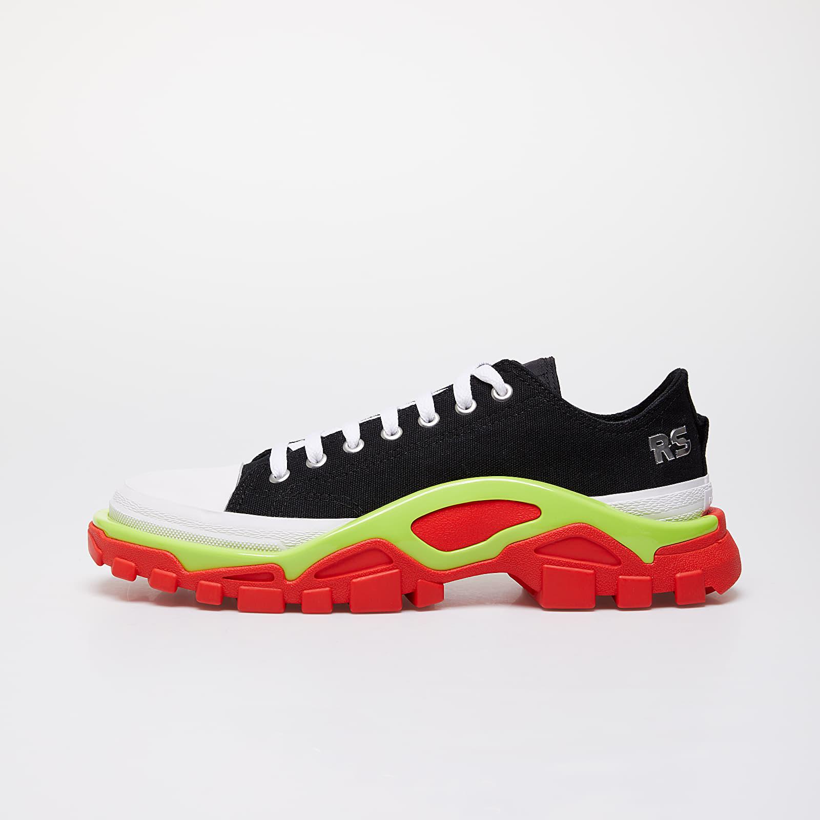 Ανδρικά παπούτσια adidas x Raf Simons Detroit Runner Core Black/ Silver Metallic/ Solar Slime