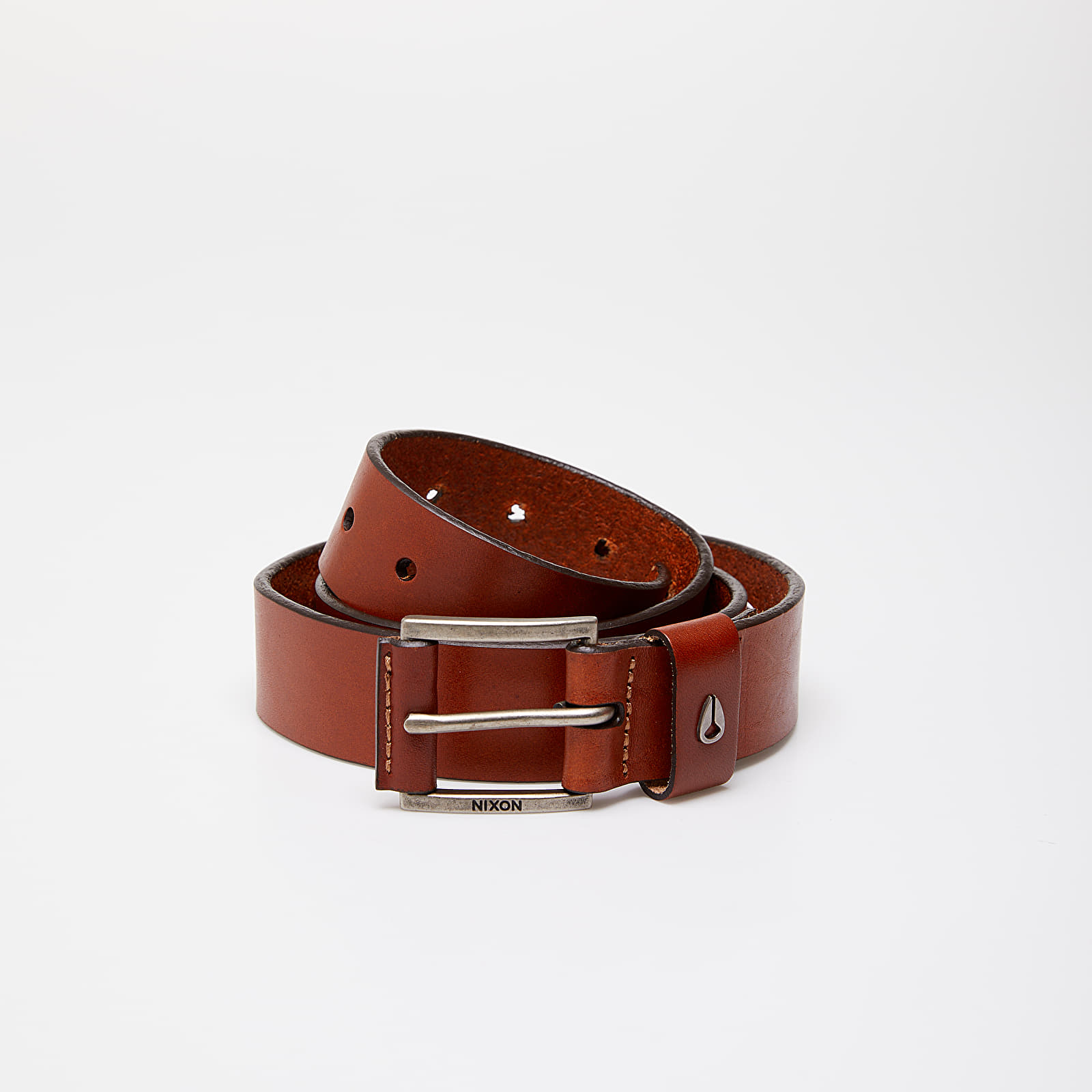 Opasky Nixon Americana Leather Belt Saddle Brown