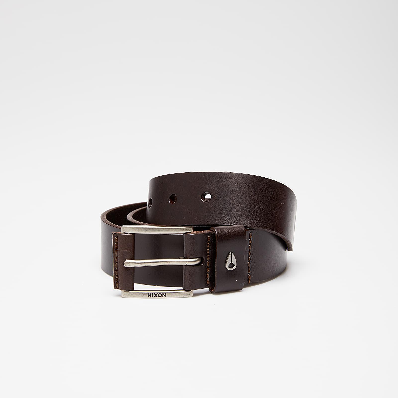 Curele Nixon Americana Leather Belt Dark Brown