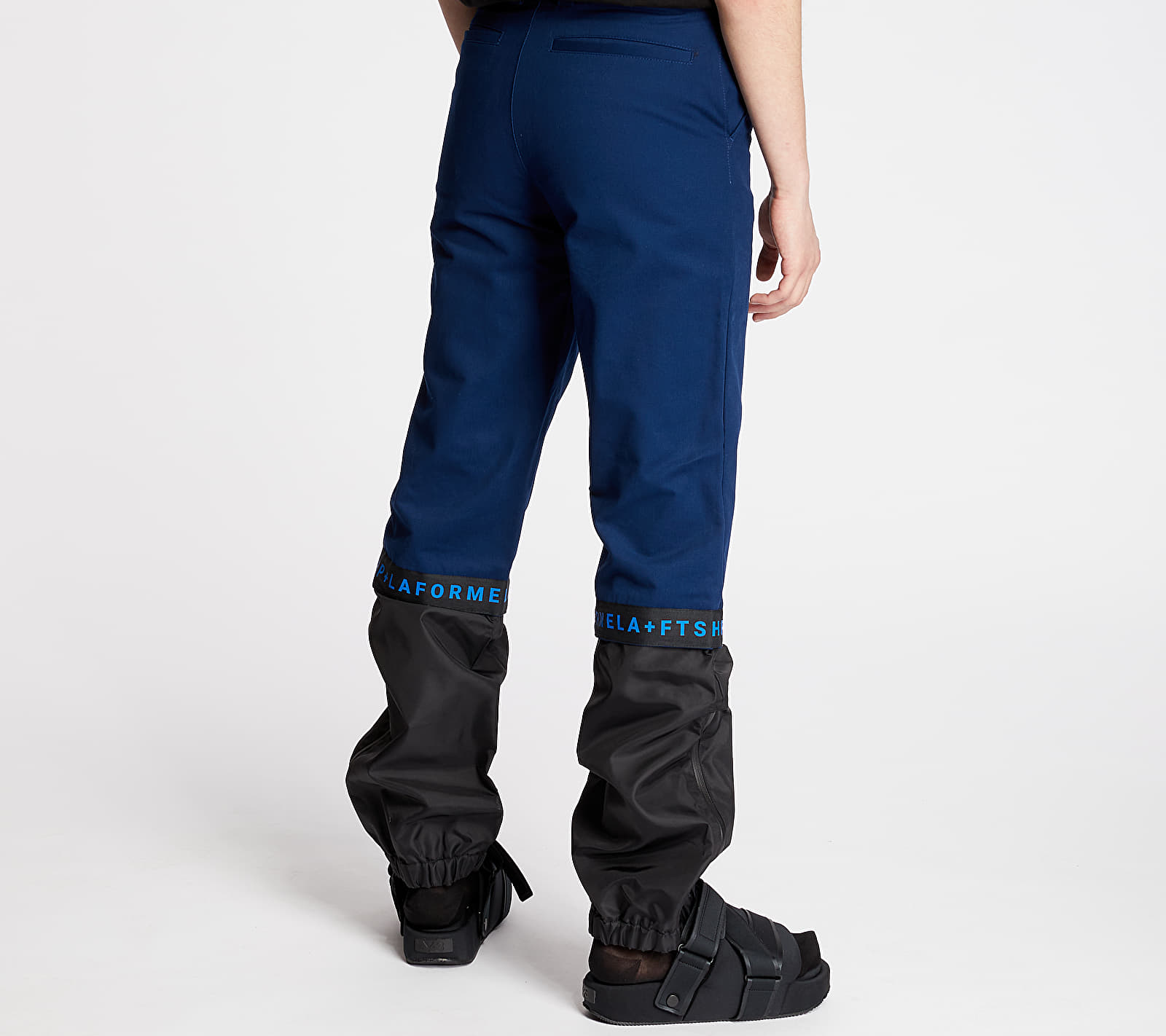 "FTSHP + LAFORMELA ""No Season"" Twill Track Pants Black/ Blue"