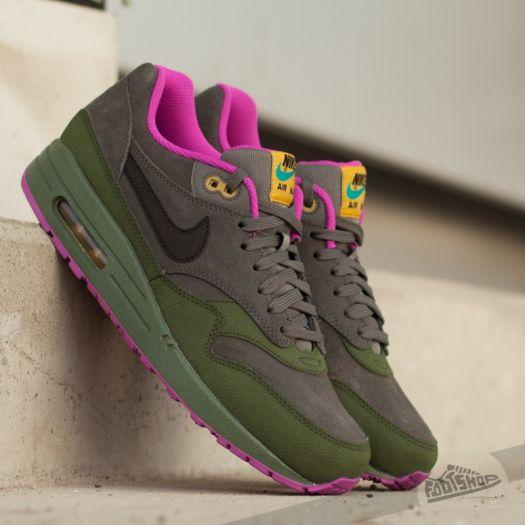 Nike Air Max 1 LTR Dark Powter Black Carbon Green
