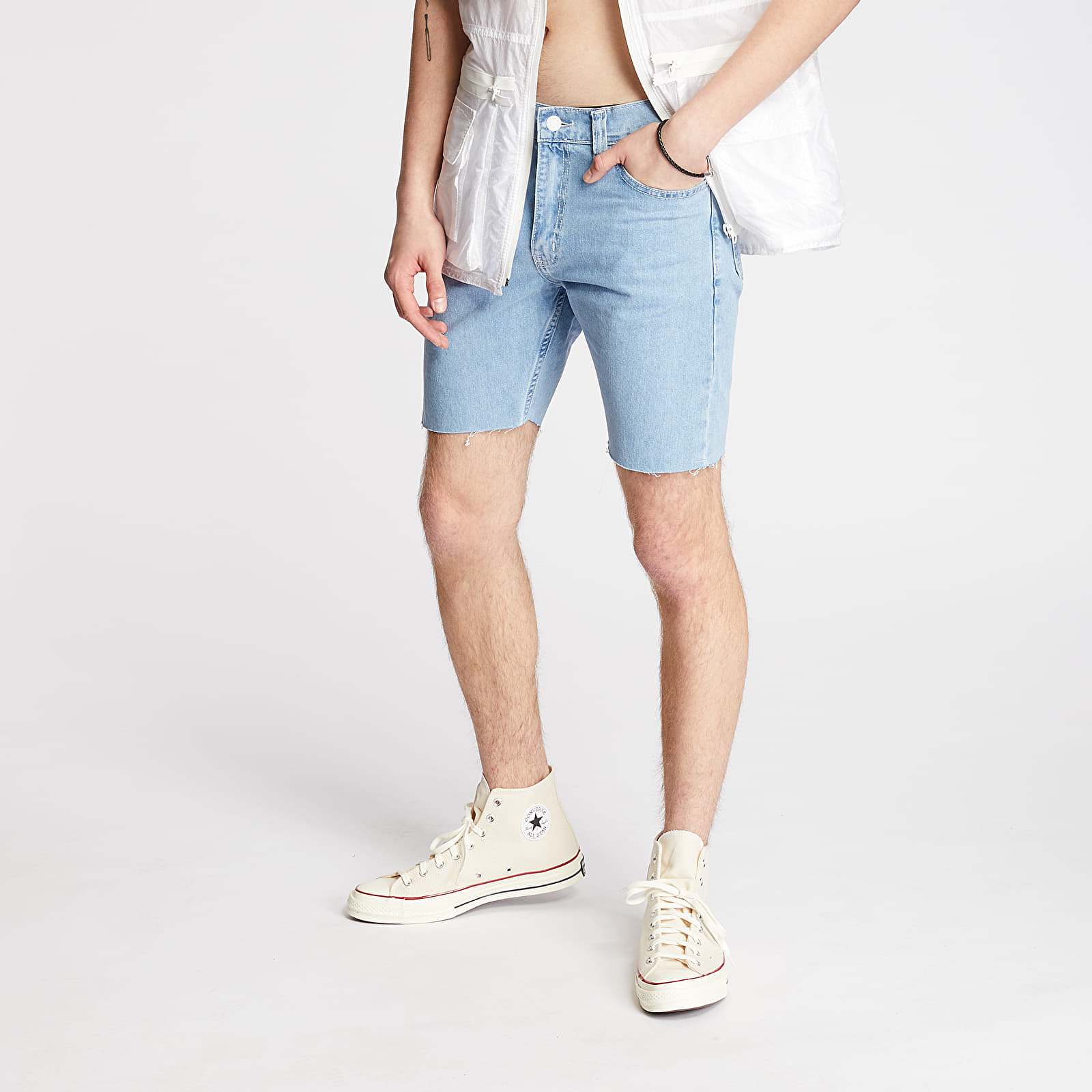 "Šortky FTSHP + LAFORMELA ""No Season"" Denim Shorts Blue"