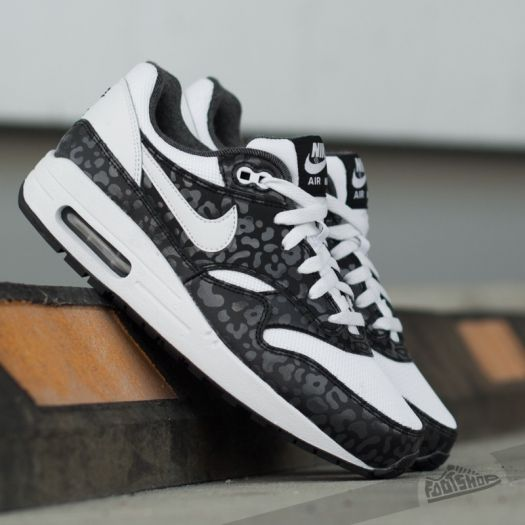 on feet shots of 100% high quality release date Nike Air Max 1 Print (GS) White/ White-Black-Anthracite ...