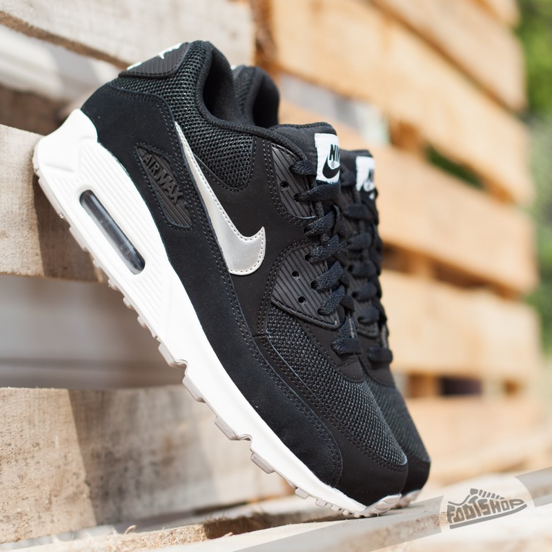 d980fc3a9f Nike Air Max 90 Essential Black/ Metallic Silver- White- Flat Silver ...