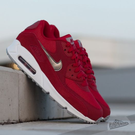 new arrival c78ba 191c5 Nike Air Max 90 Essential Gym Red/ Metallic PWTR- White ...