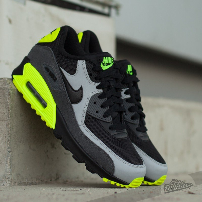 ac279d27b04c86 Nike Air Max 90 Mesh (GS) Black  Black-Wolf Grey-Dark Grey
