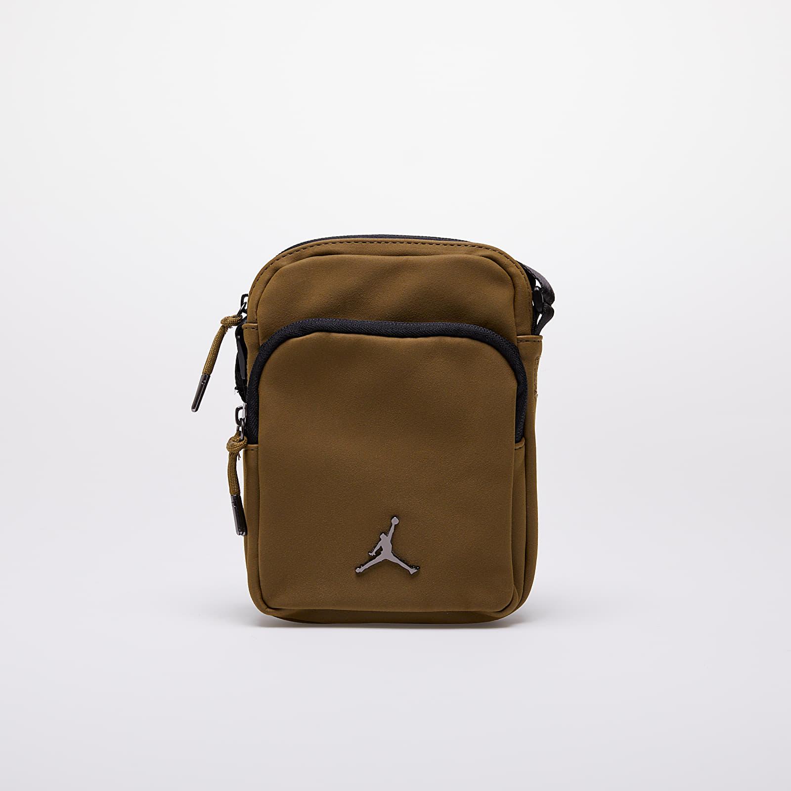 Bags and backpacks Jordan Airborne Suede Crossbody Bag Olive Flak