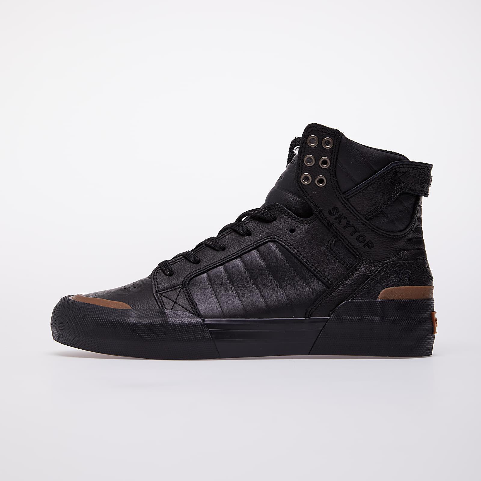 shoes Supra Skytop 77 Black-Black/ Gum