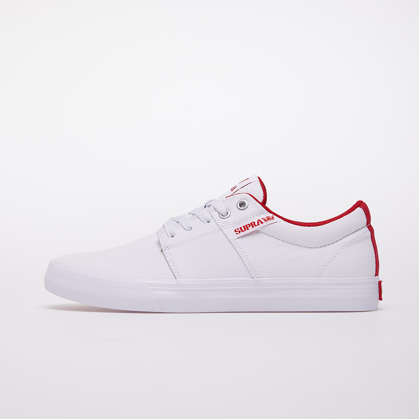 Men's shoes Supra Stacks Vulc II White/ Red-White