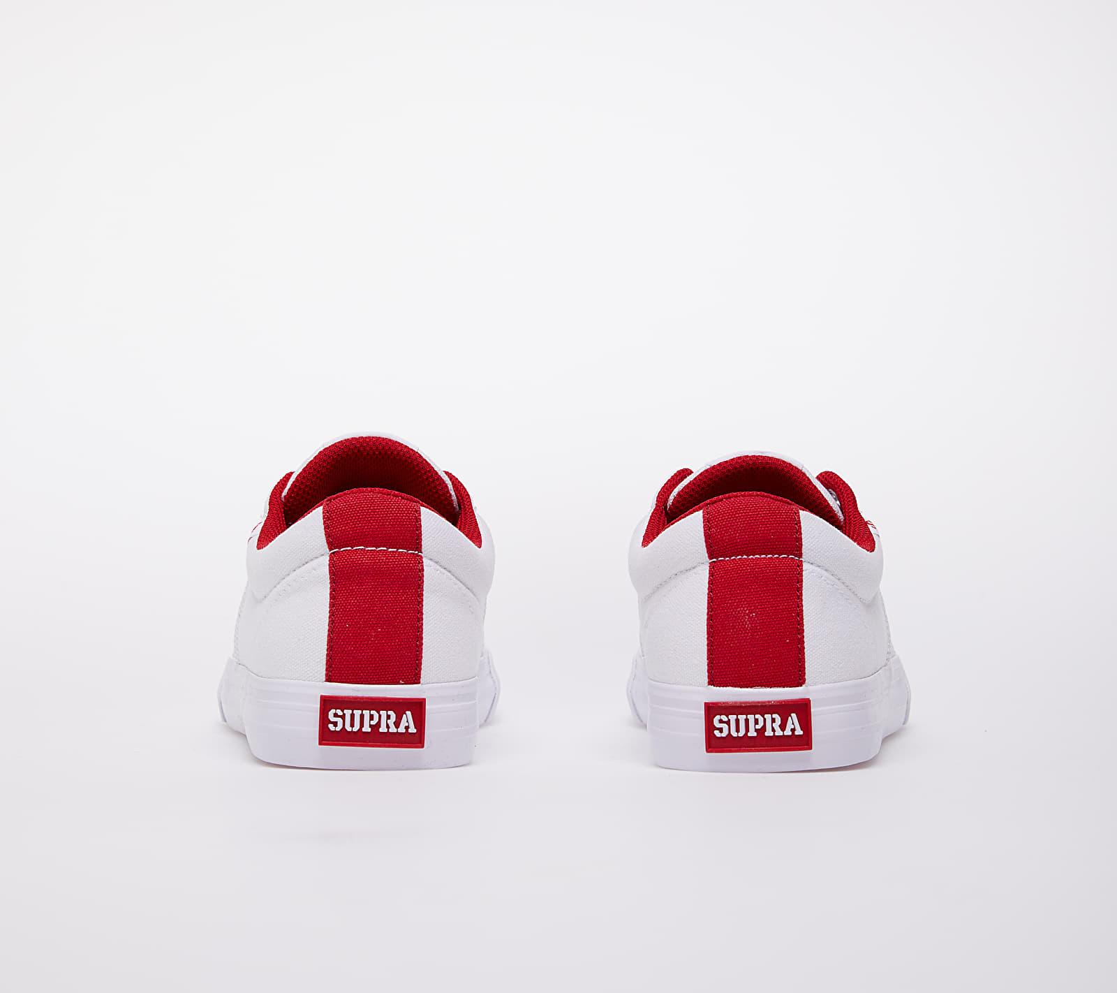 Supra Stacks Vulc II White/ Red-White