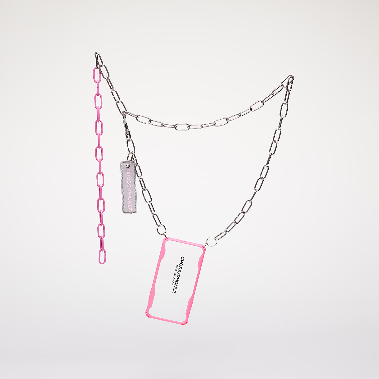 Accessories CROSS/PHONEZ Crossphone Chain Silver/ Pink