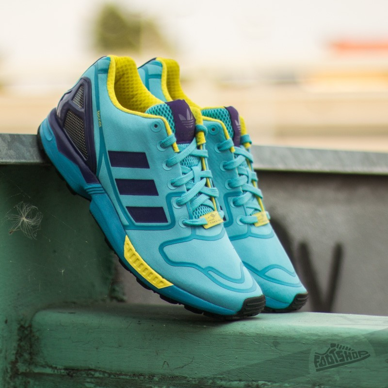 a7f7a9986 adidas ZX Flux Bright Cyan   Collegiate Purple   Bright Yellow