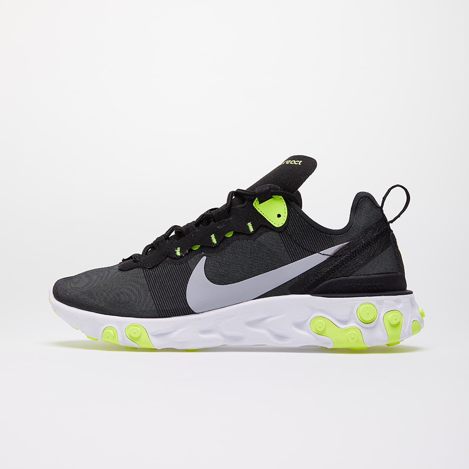 Women's shoes Nike React Element 55 Wmns Black/ Wolf Grey-Volt-Cool Grey