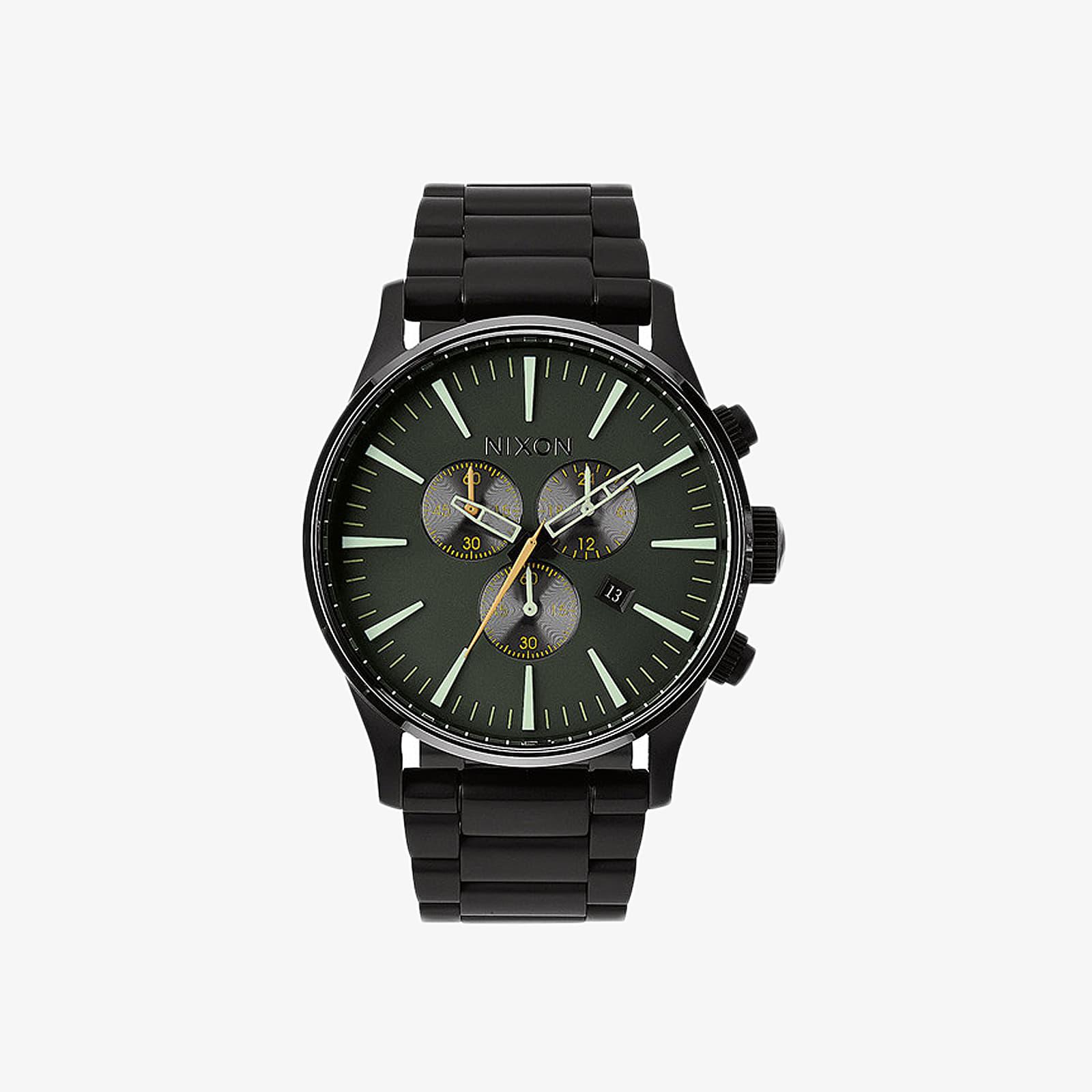 Hodinky Nixon Sentry Chrono Watch Matte Black/ Surplus
