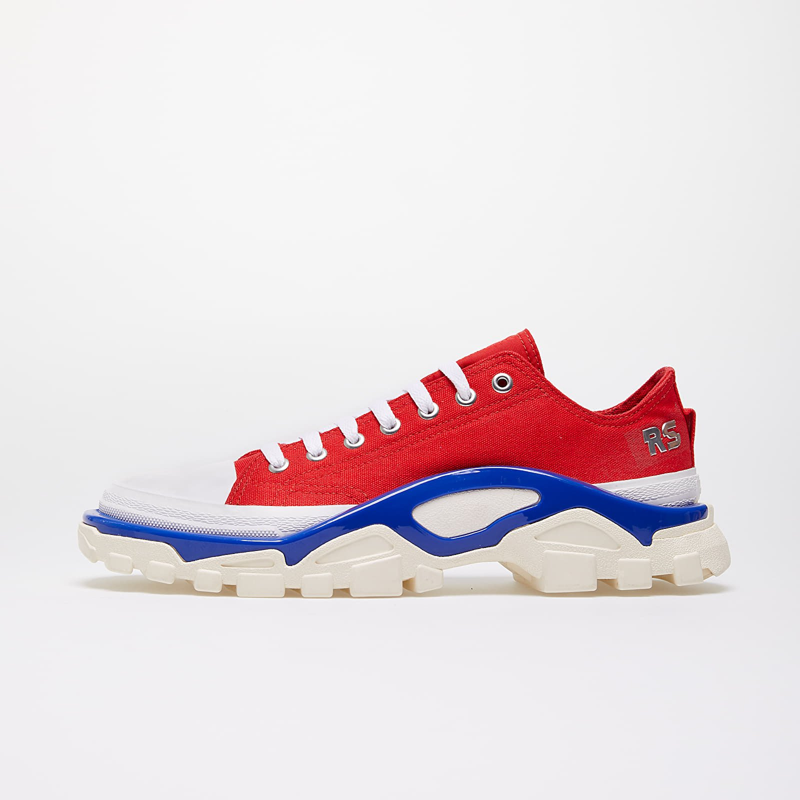 Men's shoes adidas x Raf Simons Detroit Runner Red/ Silver Metallic/ Bold Blue