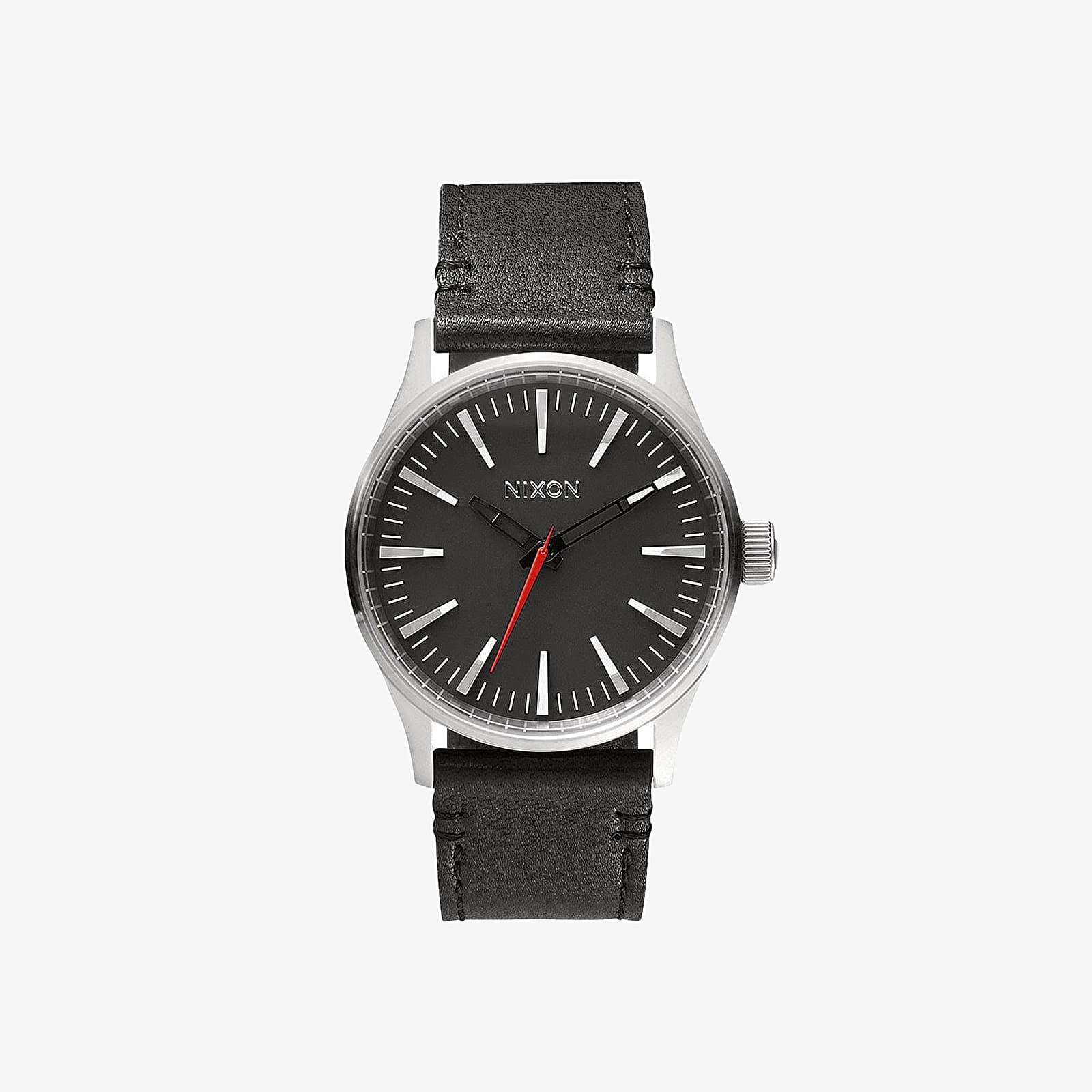 Hodinky Nixon Sentry 38 Leather Watch Black
