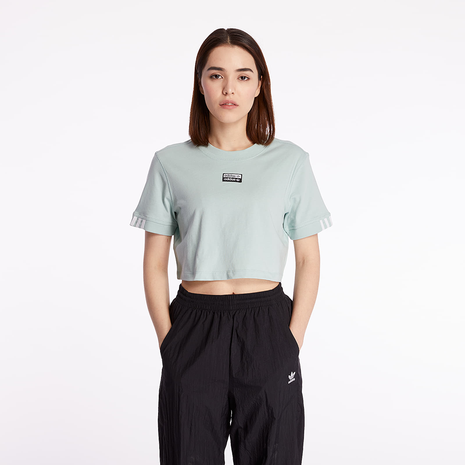Women's T-shirts adidas Cropped Tee Cropped Green Tint
