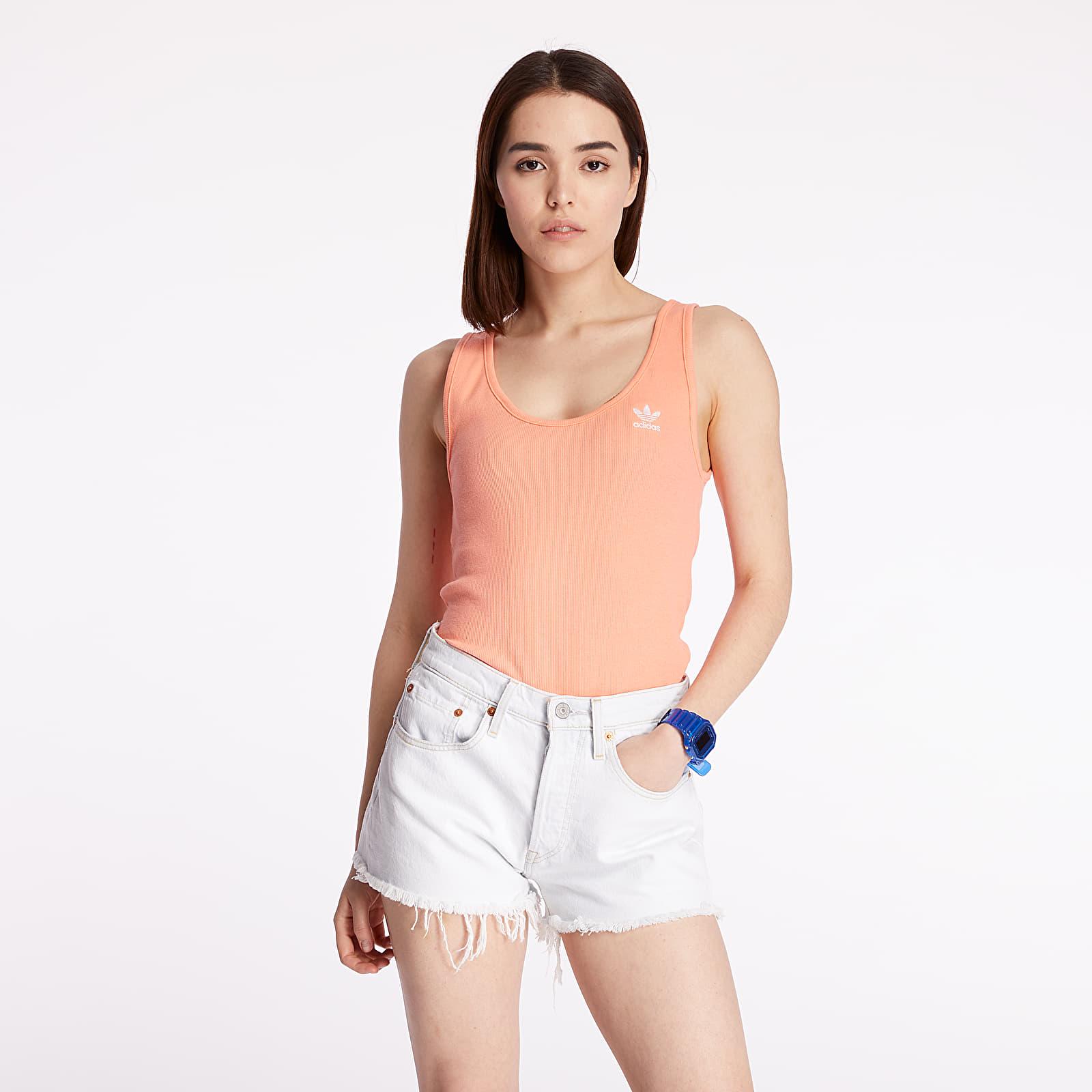 Topy adidas Tank Top Chalk Coral/ White