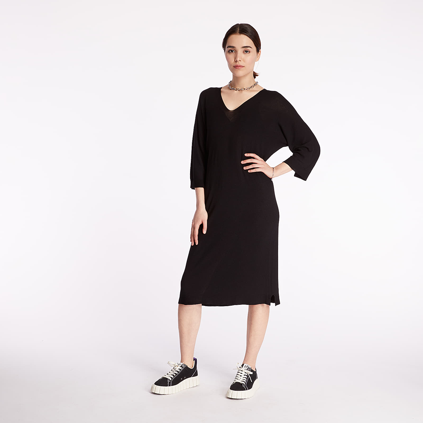 Dress Pietro Filipi Lady's Seamless Knitted Dress Black