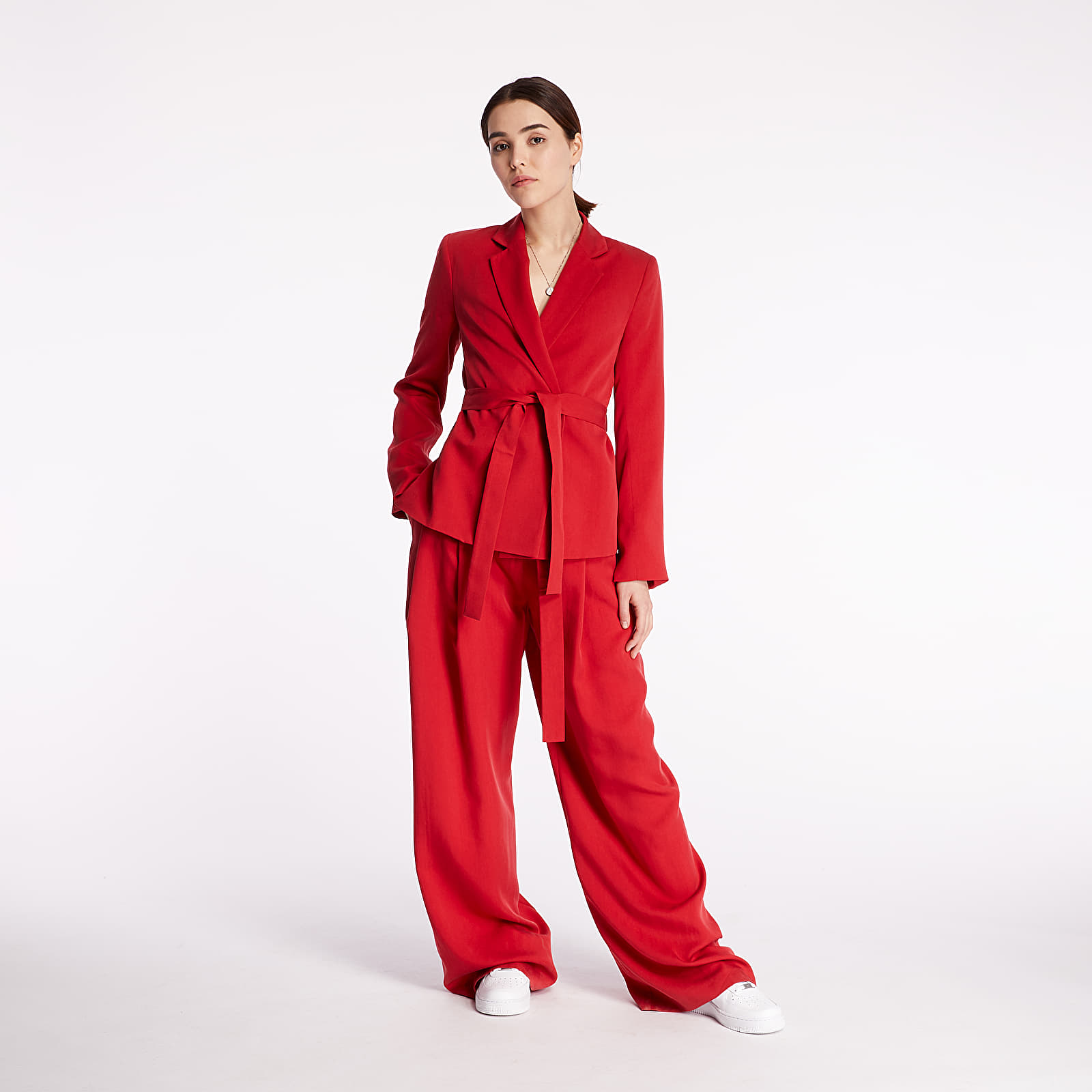 Pants and jeans Pietro Filipi Lady's Trousers Bright Red