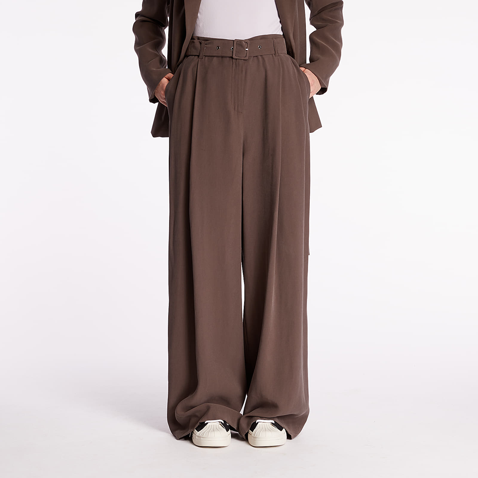 Pants and jeans Pietro Filipi Lady's Trousers Brown