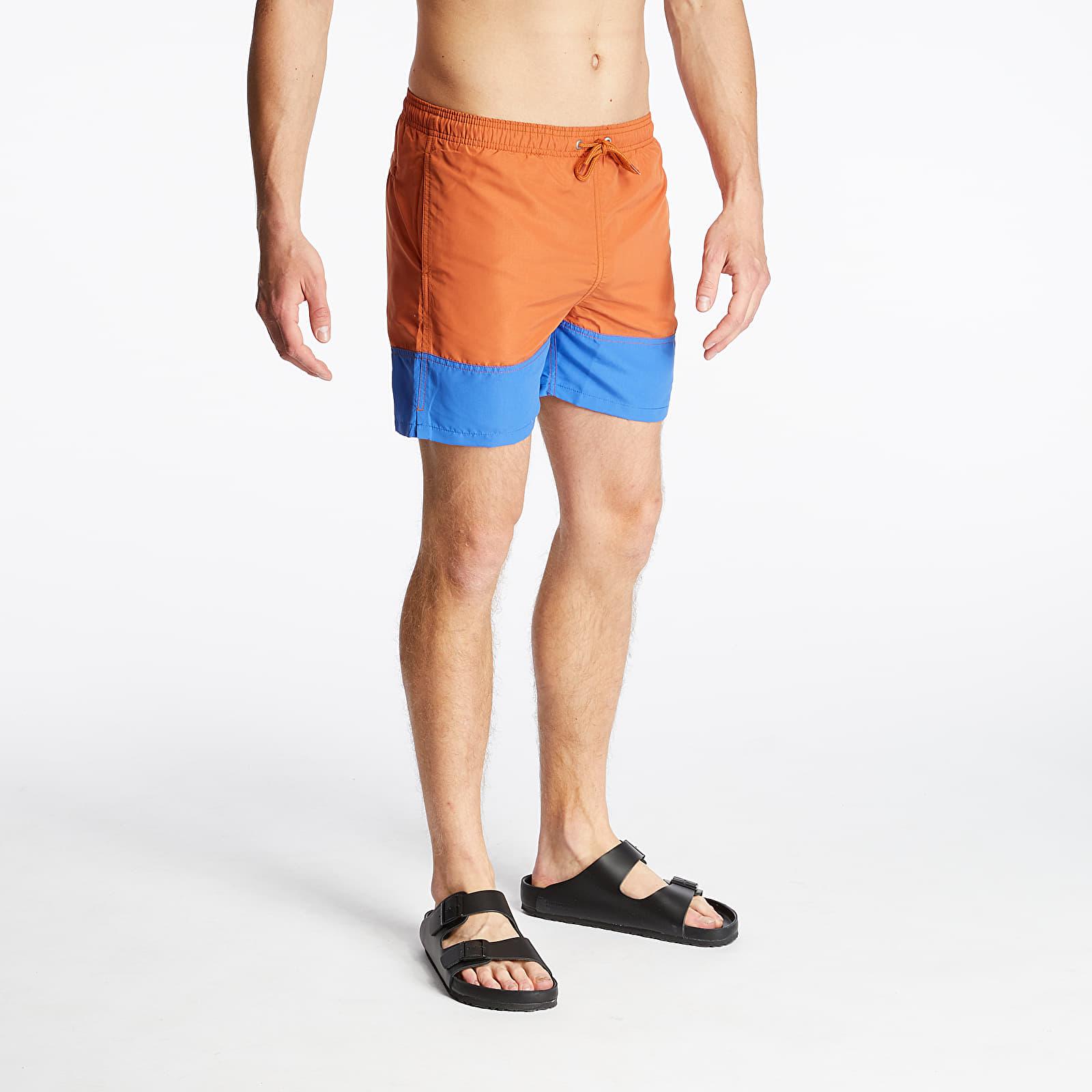 Kratke hlače Norse Projects Hauge Colour Block Swim Shorts Pumpkin Orange
