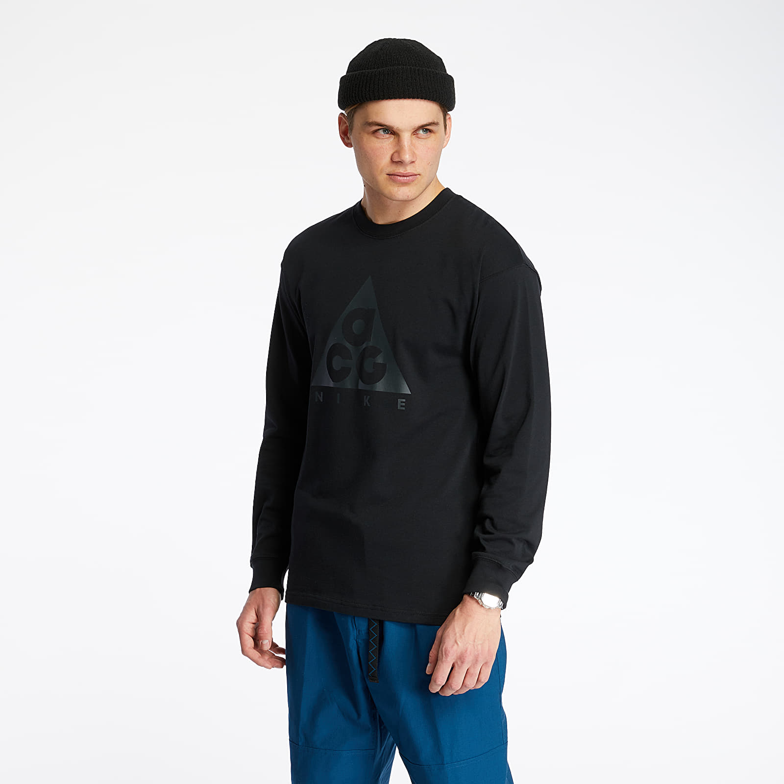 Pólók Nike ACG Long Sleeve Logo Tee NRG Black/ Anthracite