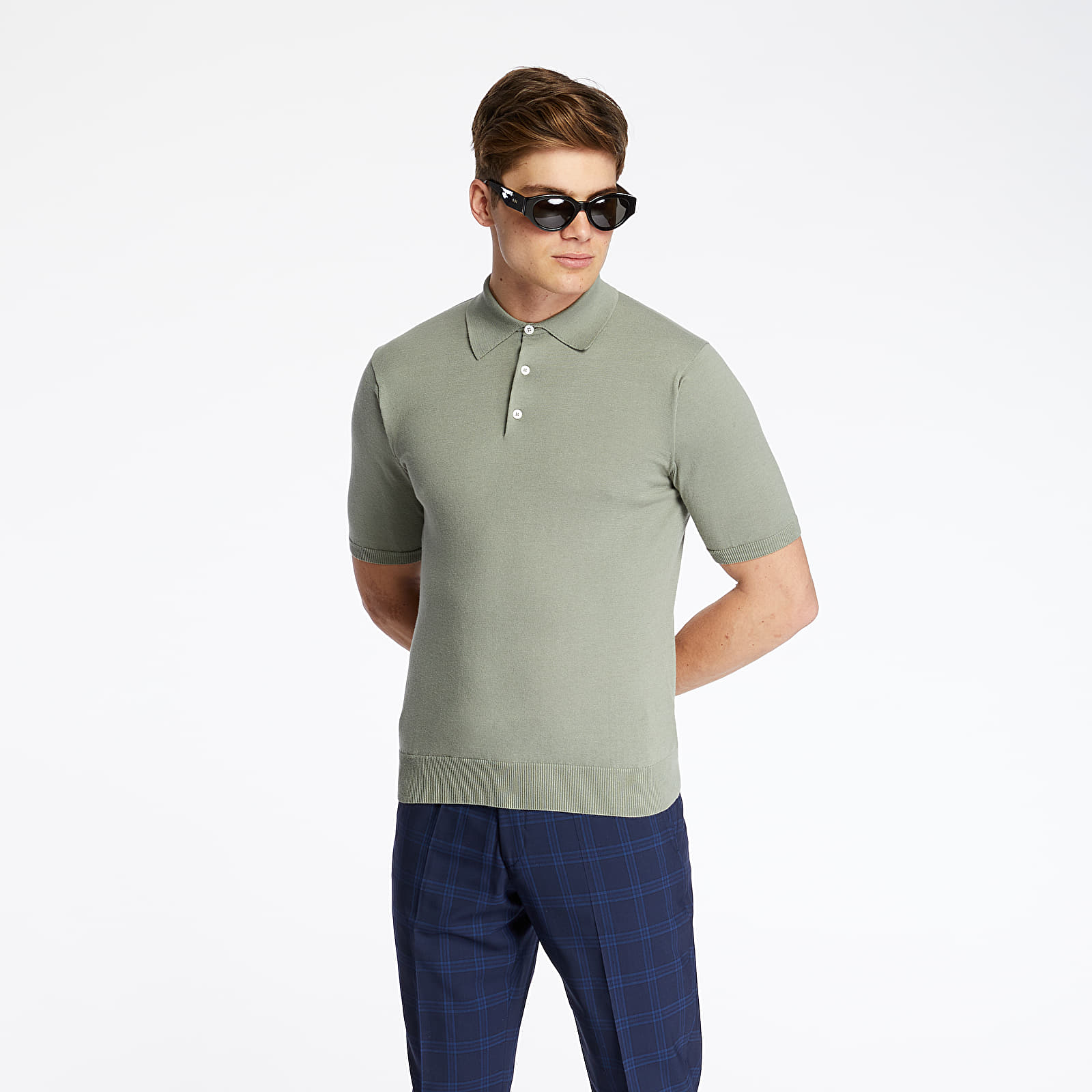 T-shirts Pietro Filipi Men's Knitted Polo Shirt Menthol