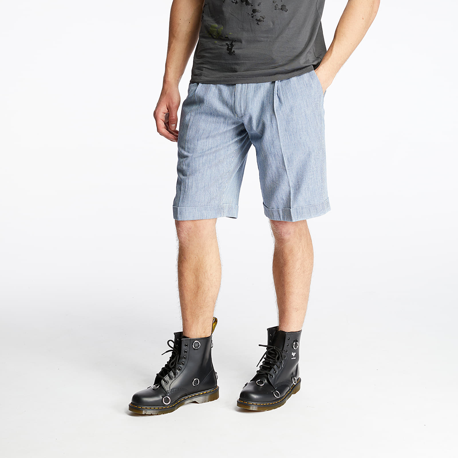 Shorts Pietro Filipi Men's Japanese Denim Shorts Blue