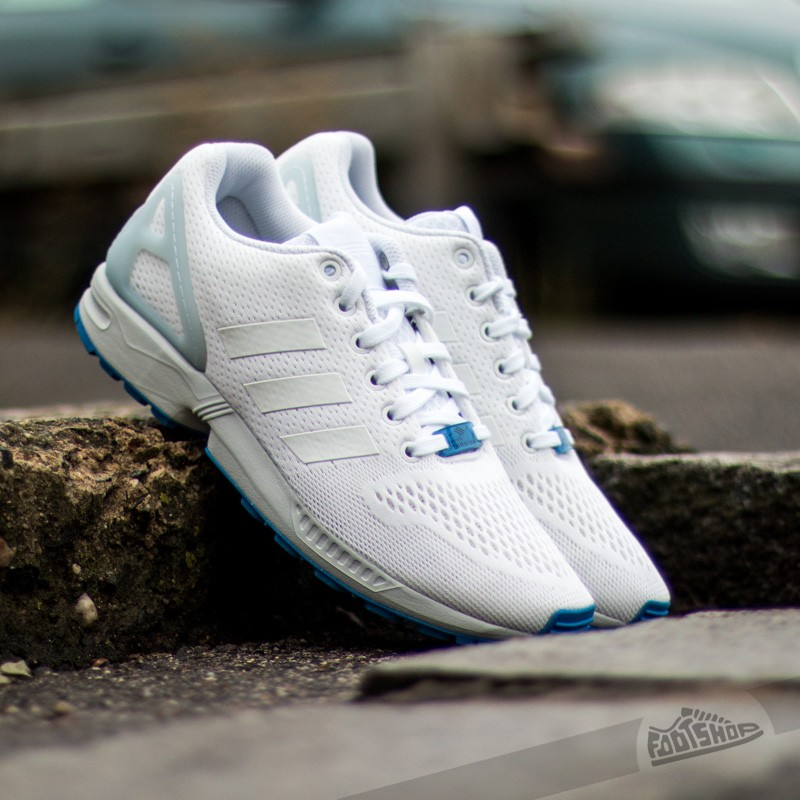 fb37c5f22f12 adidas ZX Flux Ftw White  Cool Grey  Blue