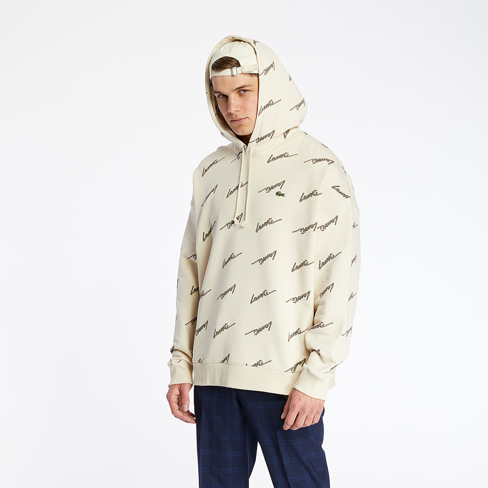 LACOSTE Print Fleece Hoodie