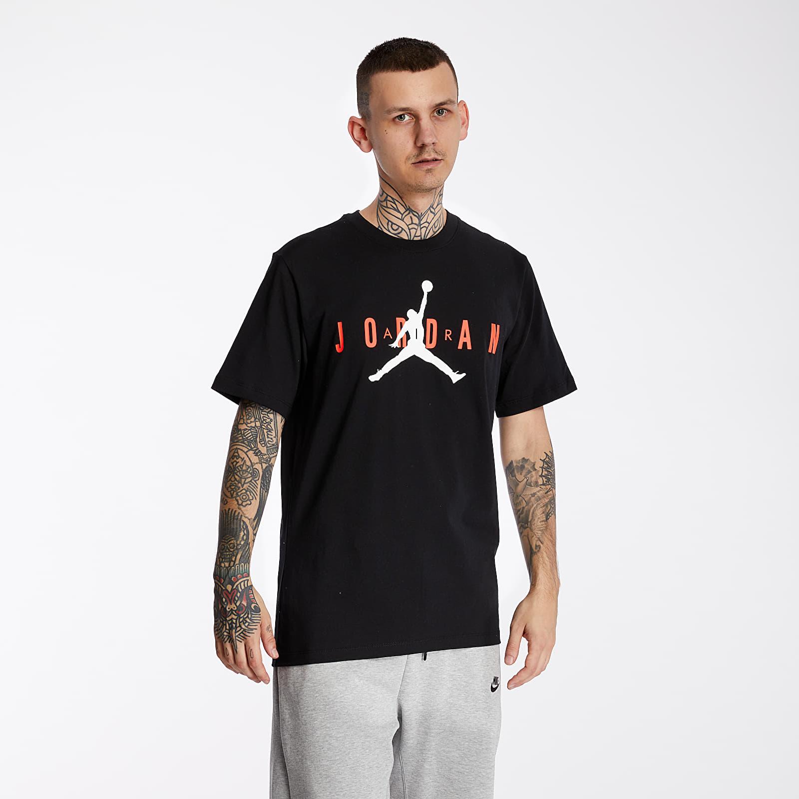 Camisetas Jordan Air Wordmark Tee Black/ Infrared 23