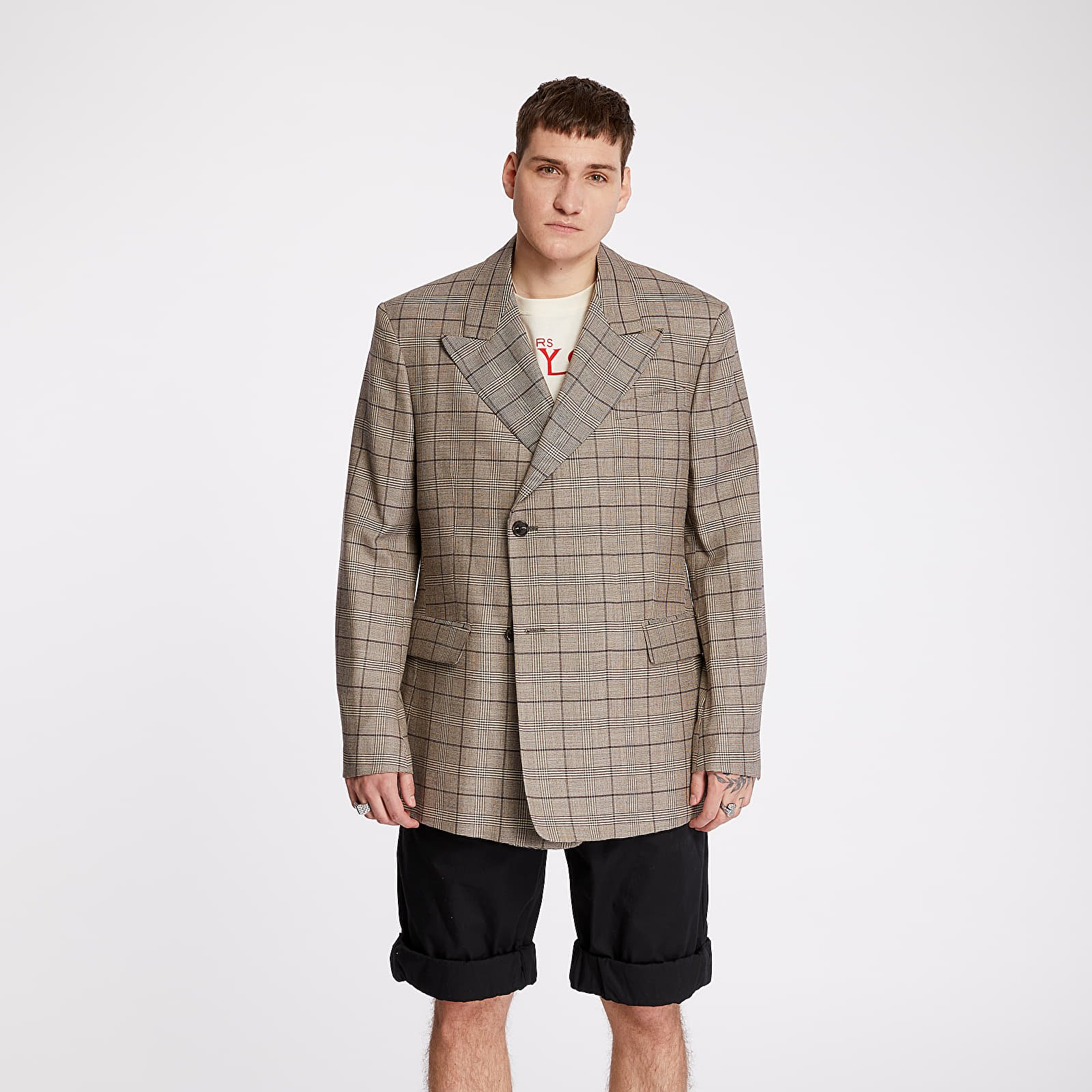 Coats RAF SIMONS Double Breasted Blazer Brown