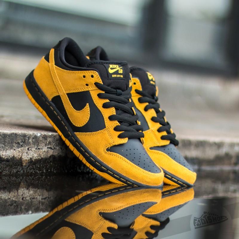 timeless design 10a93 75b50 Nike Dunk Low Pro SB University Gold/ University Gold- Black ...