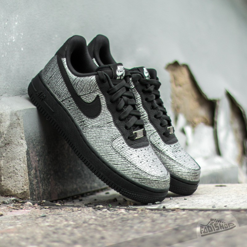 aa2c3d1938 Nike Wmns Air Force 1 07 Premium Metallic Hematite Pack Metallic Silver /Black
