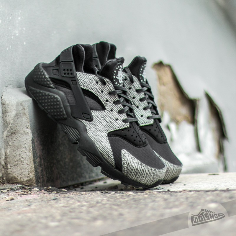 3fee7ba4fa4643 Nike Wmns Air Huarache Run Premium Metallic Hematite Pack Black Metallic  Silver