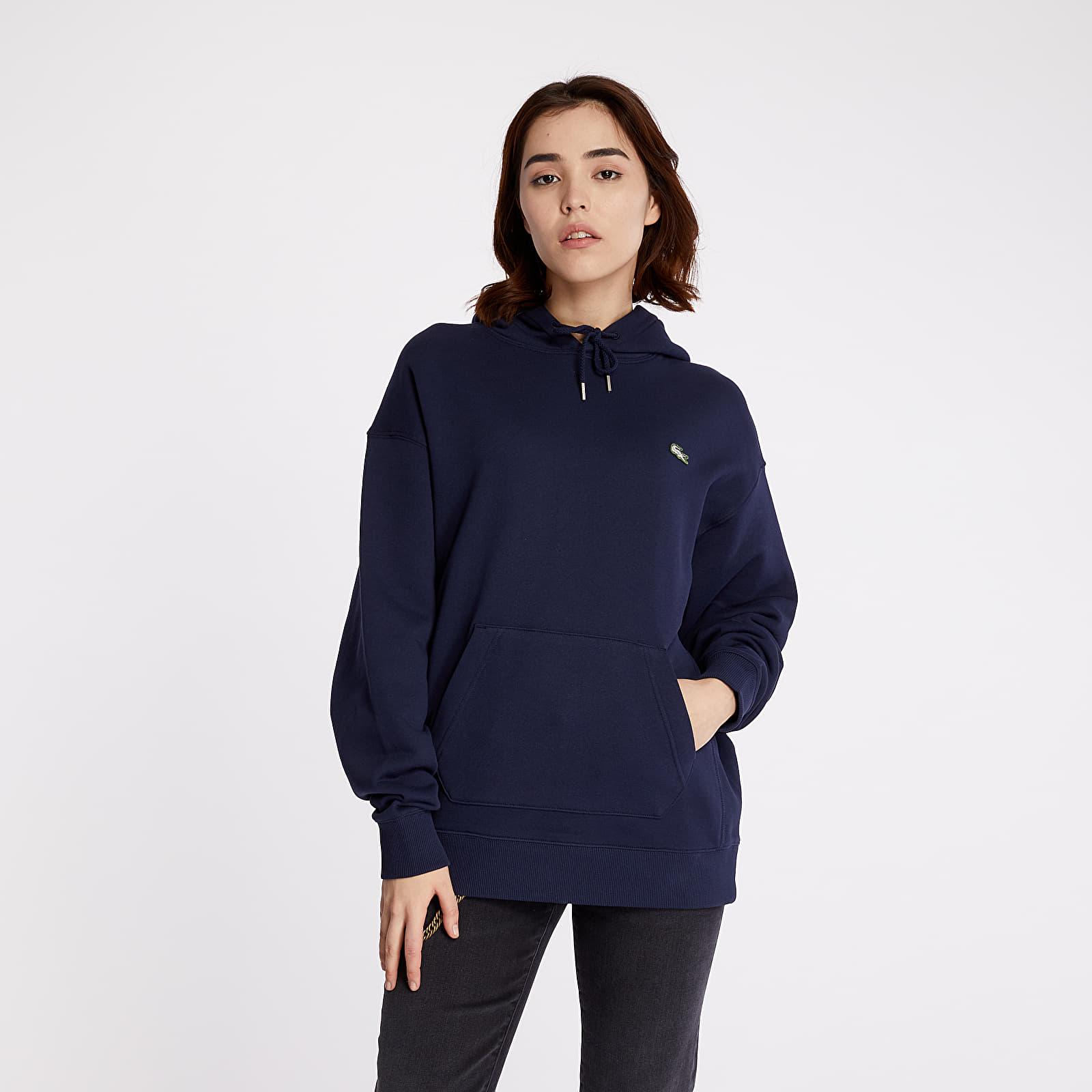 Sweatshirts LACOSTE LIVE Kangaroo Pocket Hoodie Navy