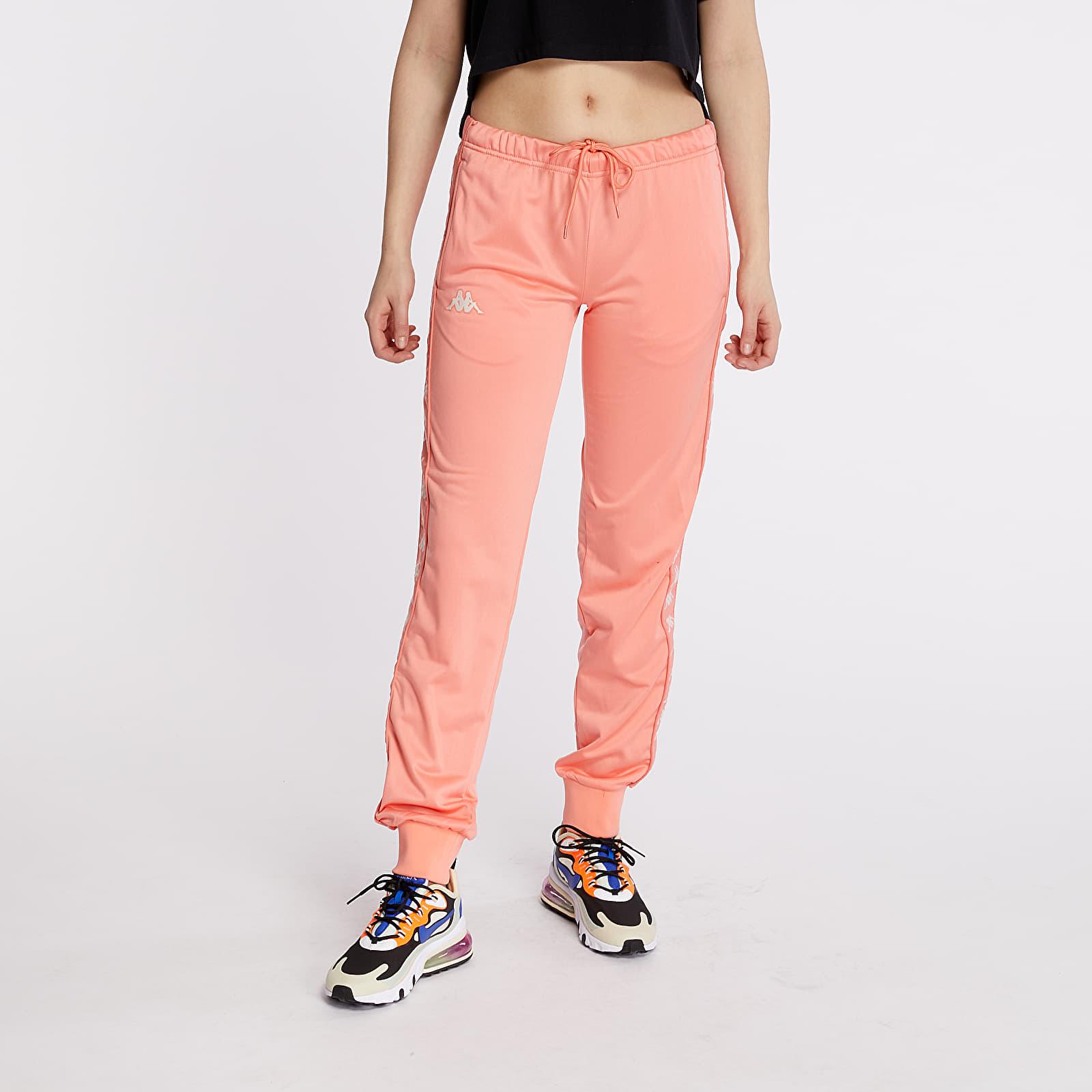 Pants and jeans Kappa 222 Banda Wrastoria Slim Pants Pink/ White