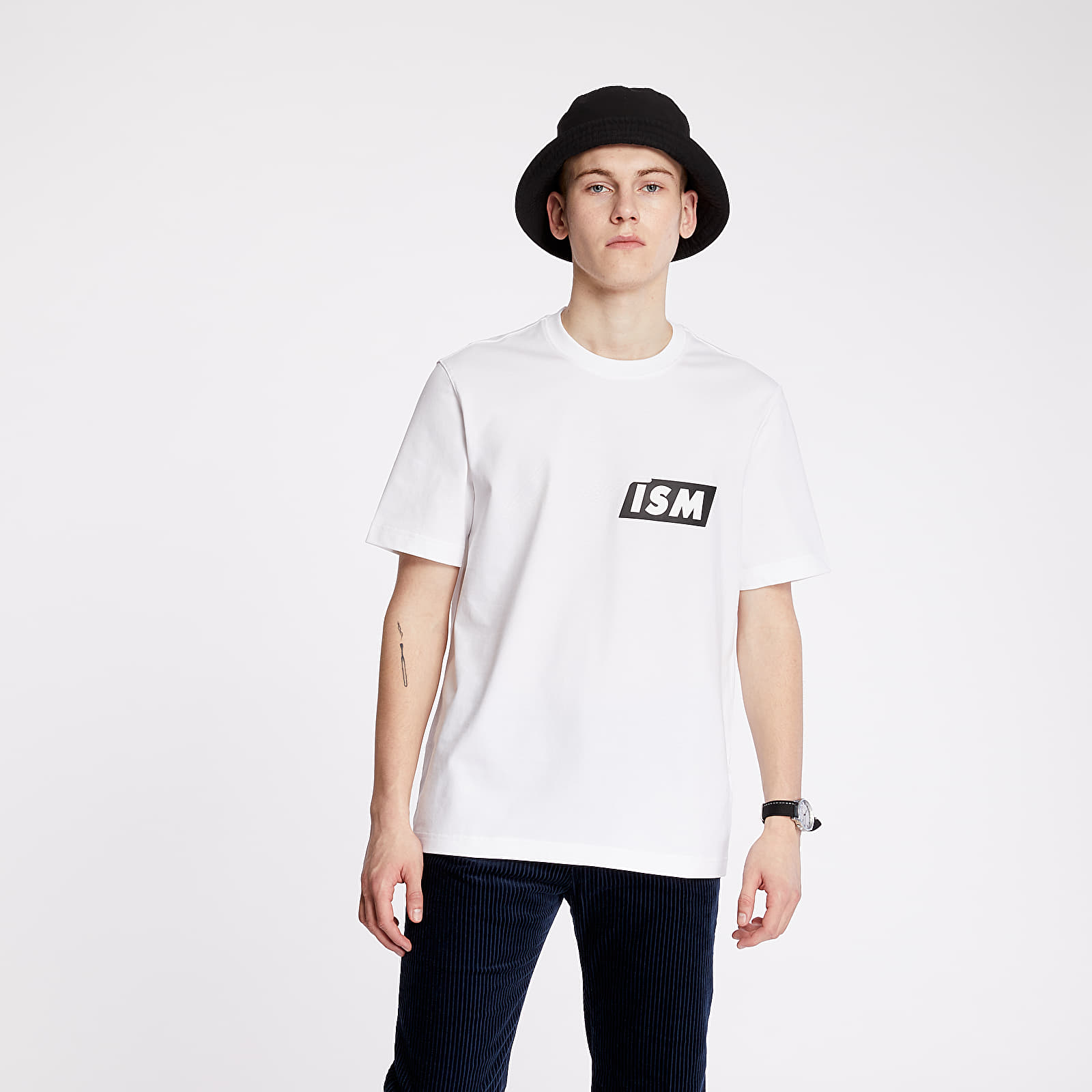 T-shirts LACOSTE LIVE Lacostism Print Tee White