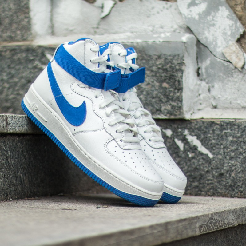 more photos 649cb 49872 Nike Air Force 1 HI Retro QS Summit White Game Royal
